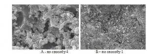 Рисунок 2. СЕМ –изображения поверхности фотоэлектродов