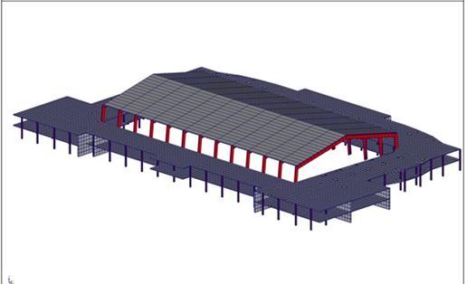 Расчетная модель здания фока