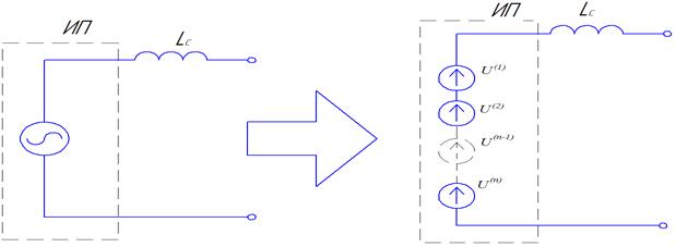 Рисунок 3 - Схема замещения