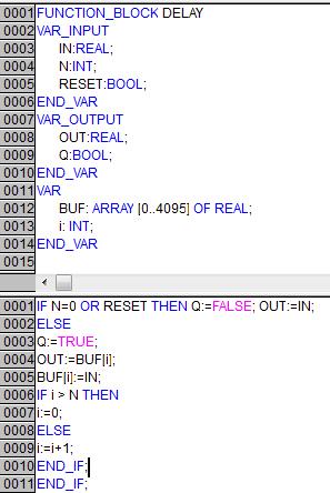 Реализация алгоритма «DELAY»на языке ST