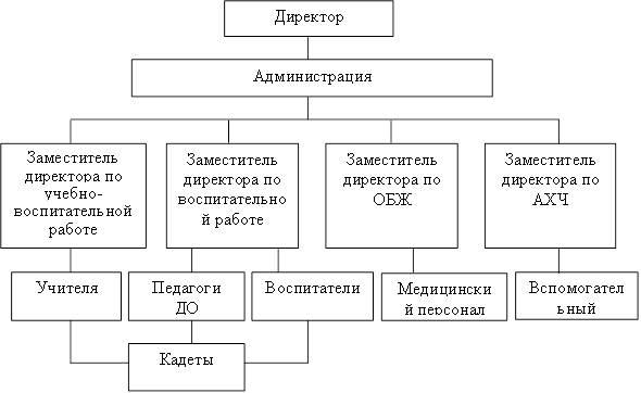 Рисунок 1 – Структура ГБ НОУ «