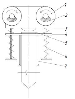 Схема вибромолота с амортизирующими пружинами
