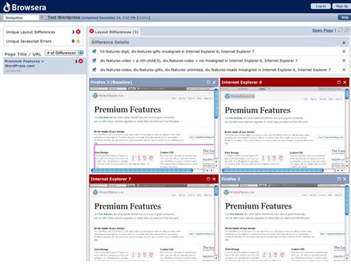 Рисунок 1- Интерфейс программы Browsershots
